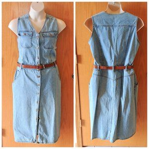 Relist VTG Bill Blass Blue Denim Dress 16W